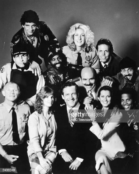 Promotional portrait of the cast of the television series 'Hill Street Blues' circa 1981 Michael Conrad Barbara Bosson Daniel J Travanti Veronica...