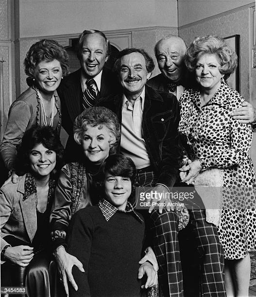 Promotional portrait of the cast of the television series 'Maude' 1976 Top Rue McLanahan Conrad Bain Bill Macy J Pat O'Malley Hermione Baddeley Front...