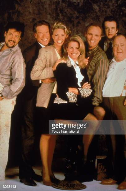 Promotional portrait of the cast of the television series 'Murphy Brown' LR Robert Pastorelli Charles Kimbrough Faith Ford Candice Bergen Joe...