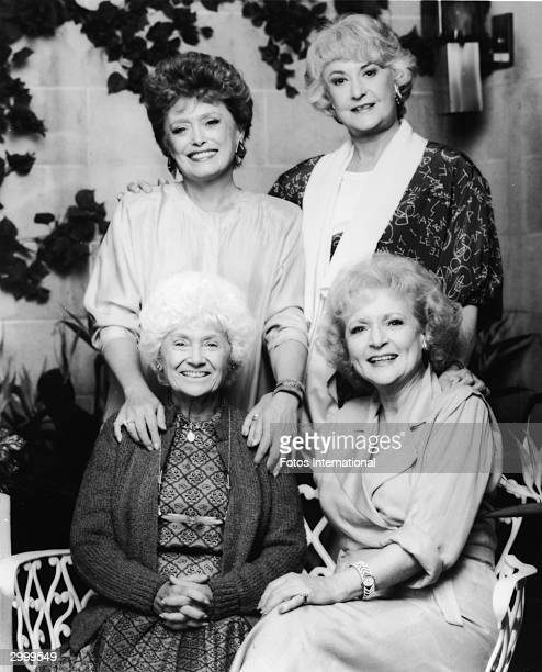 Promotional portrait of the cast of the TV series 'The Golden Girls' 1980s CW from top left Rue McClanahan Bea Arthur Betty White and Estelle Getty