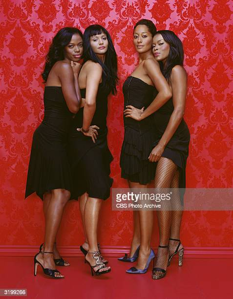 Promotional portrait of the cast of the UPN television series 'Girlfriends' Los Angeles California January 5 2004 Left to right American actresses...