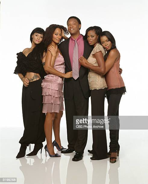 Promotional portrait of the cast of the UPN television series 'Girlfriends' Los Angeles California January 5 2004 Left to right American actors...