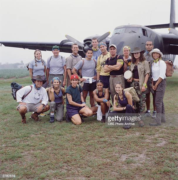 Promotional portrait of the contestants from the television series 'SurvivorThe Australian Outback' shortly after their arrival Australia 2001 Front...