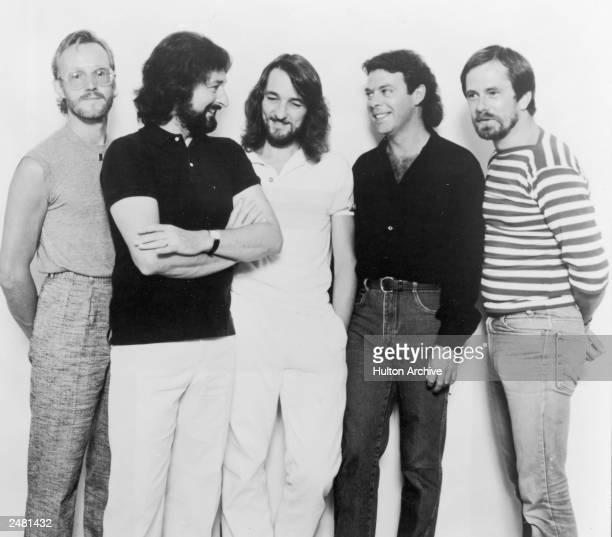 Promotional portrait of the rock band Supertramp circa 1981 LR John Helliwell Rick Davies Roger Hodgson Bob Siebenberg and Dougie Thomson