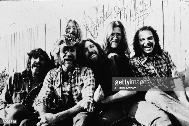 Promotional portrait of the rock group Dr Hook Bill Francis Ray Sawyer Rik Elswit Dennis Locorriere Jance Garfat and John Walters 1979 The picture is...