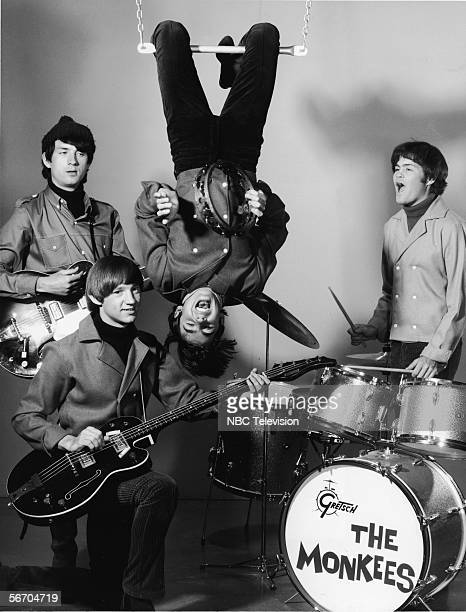 Promotional portrait shows the popular music and television group the Monkees as they perform 1st February 1967 From left Michael Nesmith Peter Tork...