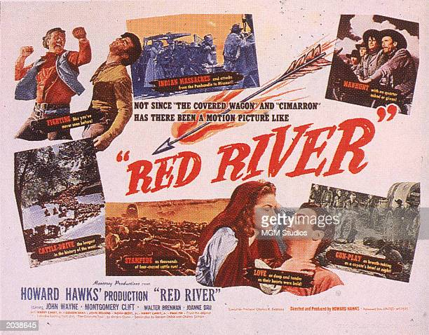 Promotional poster for the film 'Red River' directed by Howard Hawks and Arthur Rosson 1948