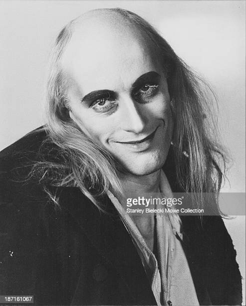 Promotional shot of actor Richard O'Brien as he appears in the movie 'The Rocky Horror Picture Show' 1975