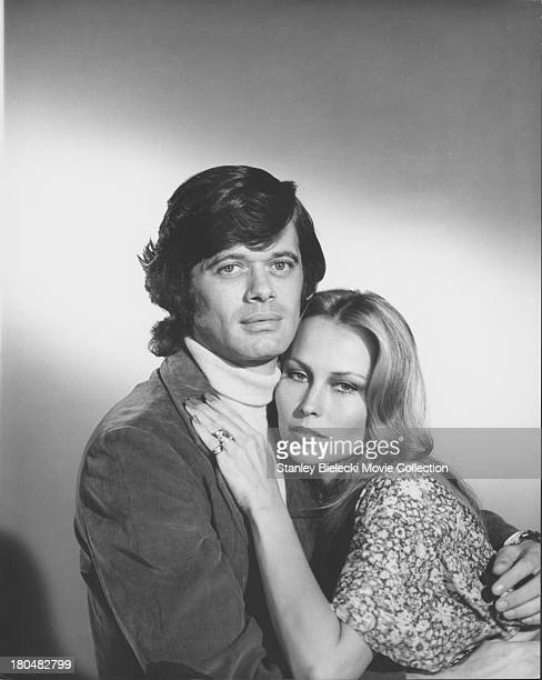 Promotional shot of actors Michael Sarrazin and Jennifer O'Neill as they appear in the movie 'The Reincarnation of Peter Proud' 1975