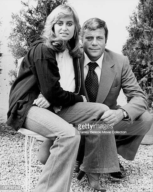 Promotional shot of actors Oliver Reed and Susan George as they appear in the film 'Tomorrow Never Comes' 1978