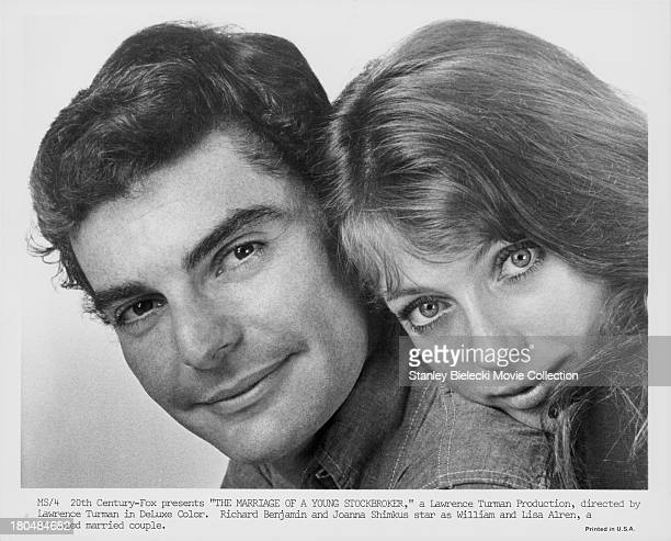 Promotional shot of actors Richard Benjamin and Joanna Shimkus as they appear in the movie 'The Marriage of a Young Stockbroker' 1971