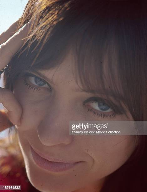 Promotional shot of actress Anna Karina as she appears in the movie 'The Magus' 1968