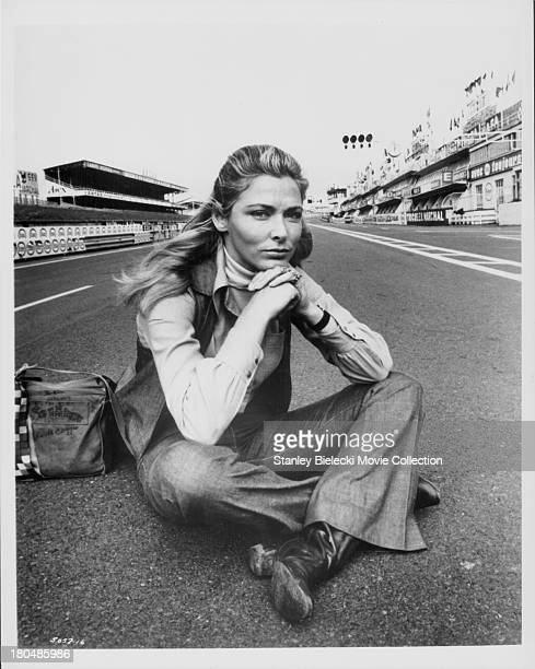 Promotional shot of actress Elga Andersen as she appears in the movie 'Le Mans' 1971