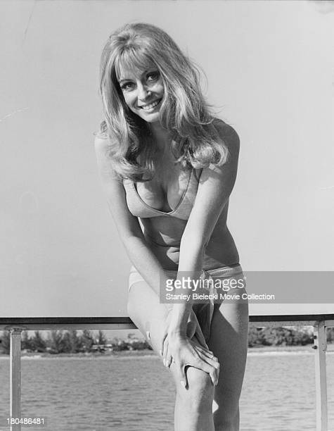 Promotional shot of actress Suzy Kendall as she appears in the movie 'Darker Than Amber' 1970
