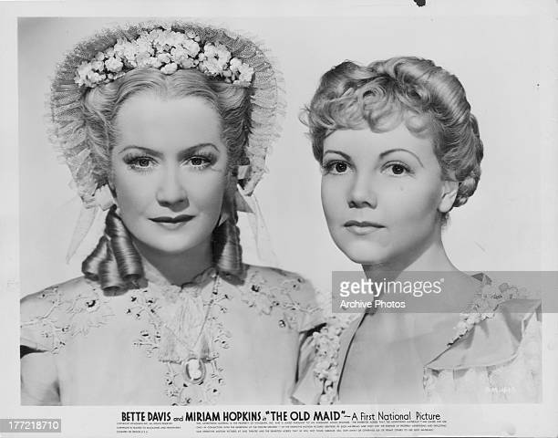 Promotional shot of actresses Bette Davis and Miriam Hopkins as they appear in the movie 'The Old Maid' 1939
