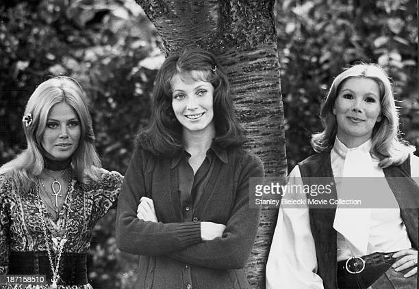 Promotional shot of actresses Britt Ekland Susan Hampshire and Joanna Shimkus as they appear in the film 'A Time for Loving' 1972