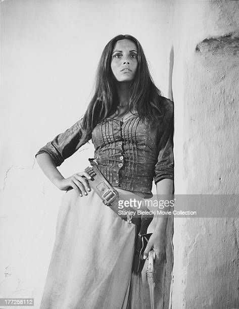 Promotional shot of the actress Daliah Lavi as she appears in the movie 'Catlow' 1971