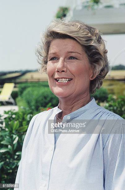 Promotional still from the American television series 'Dallas' shows Barbara Bel Geddes as Eleanor Southworth 'Miss Ellie' Ewing, July 1978.