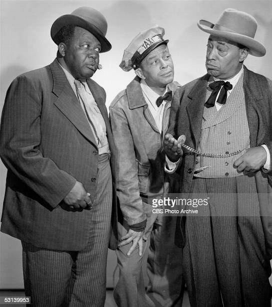 Promotional still from 'The Amos N' Andy Show' 1951 From left Spencer Williams as Andy and Alvin Childress as Amos watch as Tim Moore as George...