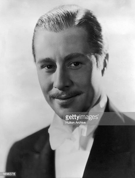 Promotional studio headshot portrait of American actor Don Ameche 1930s