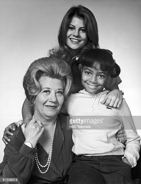 1980 Promotional studio portrait of American actors Charlotte Rae Lisa Welchel and Kim Fields for the television series 'The Facts of Life'