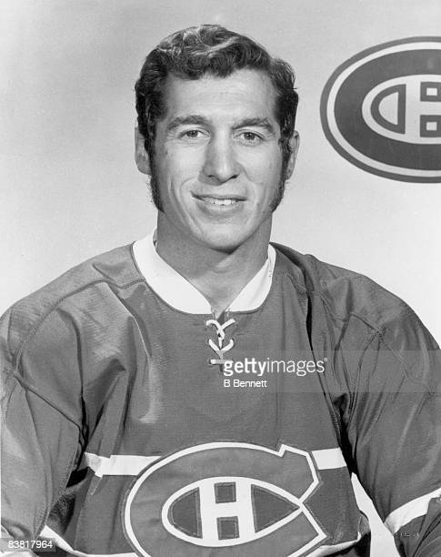 Promotional studio portrait of Canadian ice hockey player Claude Larose of the Montreal Canadiens mid 1960s or mid 1970s