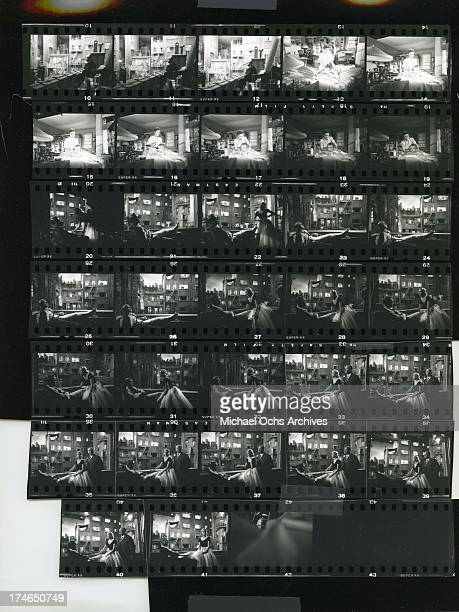 A proof sheet for the movie 'Rear Window' directed by Alfred Hitchcock and starring Grace Kelly and James Stewart in November 1953 in Los Angeles...