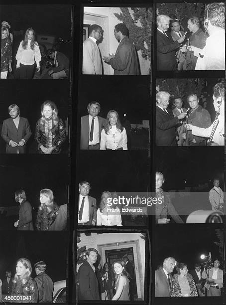 A proof sheet of attendees including Marlon Brando Natalie Wood Candace Bergen Terry Melcher Patty Duke Harry Falk Lorne Greene Rev Jesse Jackson and...