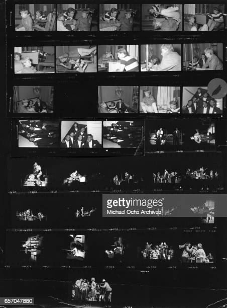 Proof sheet of Jan and Dean Jill Gibson The Temptations backstage at the Apollo and a WMCA Good Guys Show witrh Eric Burdon and the Animals Chuck...