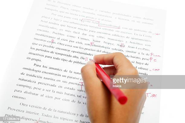 proofreading services, spanish text - editor stock pictures, royalty-free photos & images