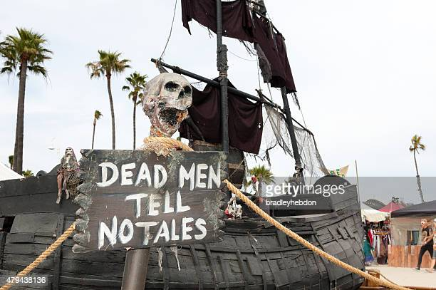 Prop boat at the annual Pirate Invasion festival