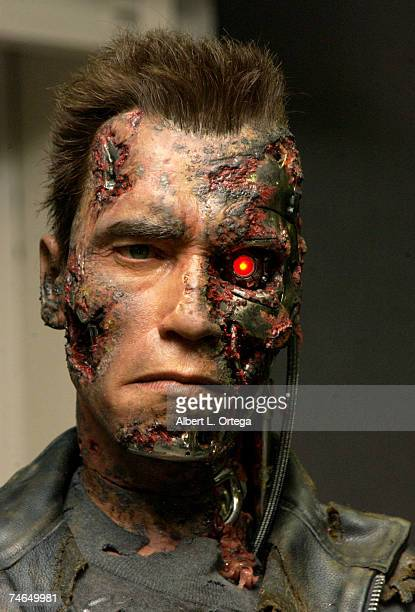 T800 prop from Terminator 3 Rise of the Machines at the The Shrine Auditorium in Los Angeles California