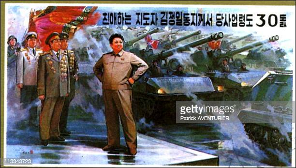 Propaganda Paintings In North Korea On September 00Th, 2005 In Pyongyang, Thailand - Here, Arts And Culture Are Subordinated To Political And...