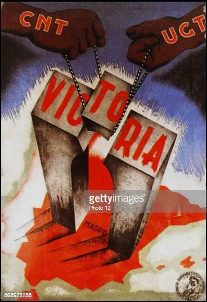 CNT propaganda poster during the Spanish Civil War