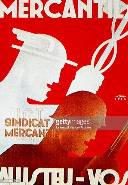 Propaganda poster issued by the Mercantile Union during the Spanish Civil War