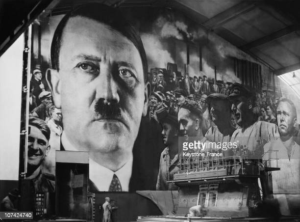 Propaganda Poster With Hitler And The Symbol Of The German Manpower On April 29Th 1937
