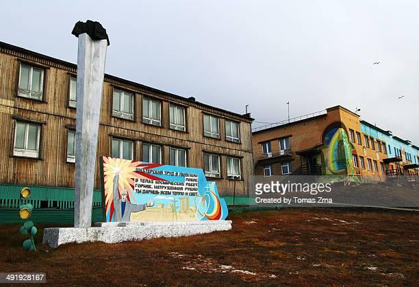 Propaganda posters in Barentsburg