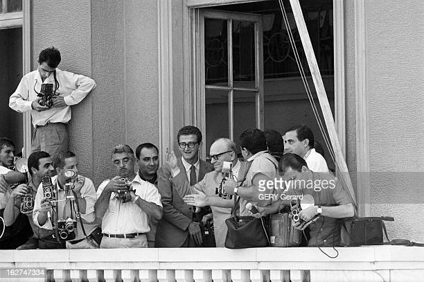 ProPapandreou Demonstrations In Greece Athènes 30 juillet 1965 Dans une rue de la ville lors d'une manifestation de soutien à Georges PAPANDREOU...