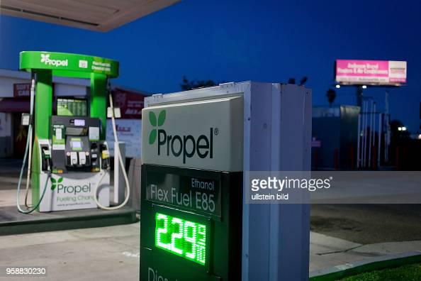 Propel gas station selling Flex Fuel E85 and Diesel HPR, aka