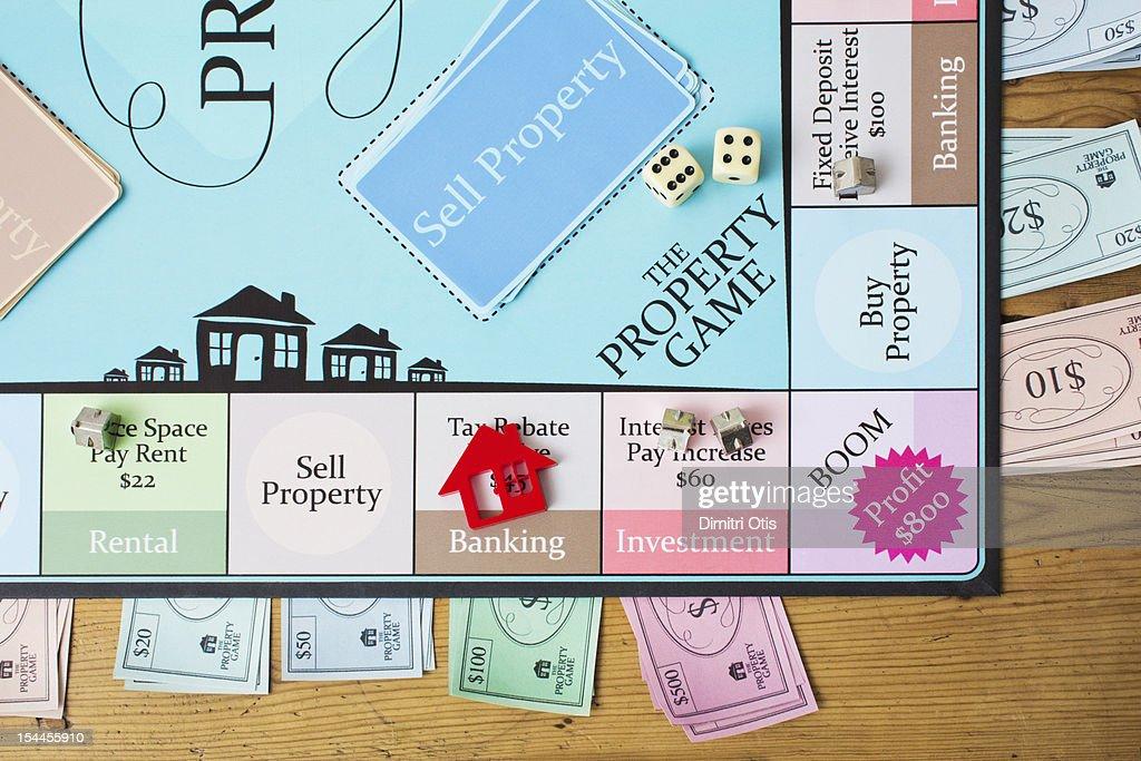 Property board game : Stockfoto