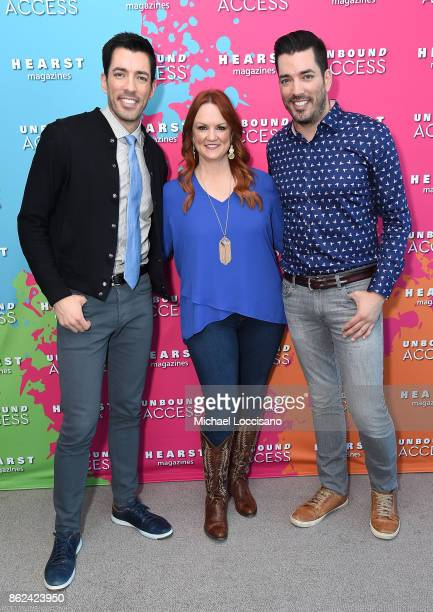 Property Brothers Jonathan Scott, Drew Scott and Ree Drummond attend Hearst Magazines' Unbound Access MagFront at Hearst Tower on October 17, 2017 in...