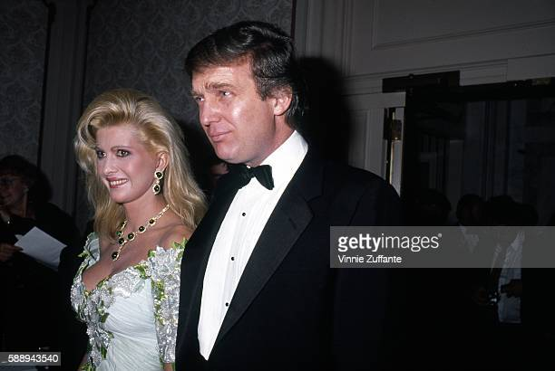 Property developer Donald Trump and wife Ivana Trump attend a Police Athletic League event for Commisioner Benjamin Ward's Kids in 1989 in New York...