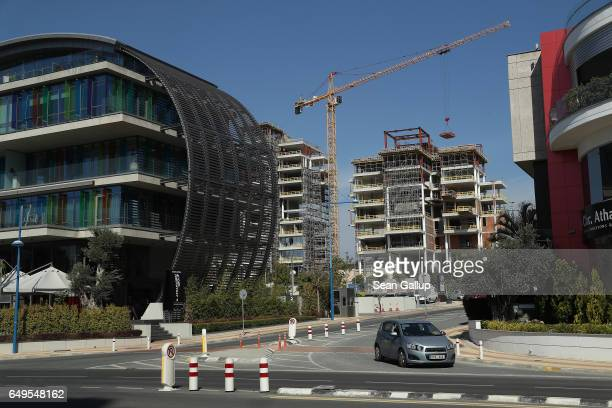 A property development stands under construction on March 8 2017 in Limassol Cyprus Cyprus has largely recovered from its 20122013 economic crisis...