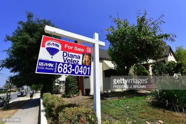 Property for sale in Alhambra California on June 20 2018 where home prices hit a record high in May as sales dipped According to figures from the...