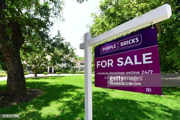 Property for sale in Pasadena California on June 20 2018 where home prices hit a record high in May as sales dipped According to figures from the...