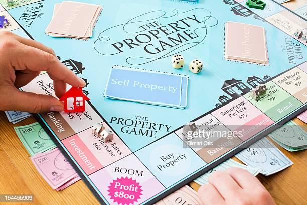 Property game depicting property market activities