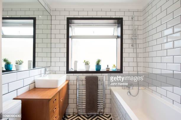 property interiors - toilet planter stock pictures, royalty-free photos & images