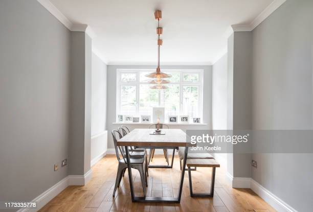 property interiors - dining room stock pictures, royalty-free photos & images