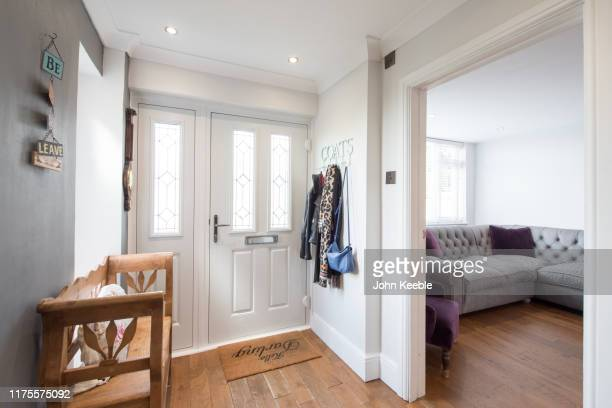 property interiors - entrance hall stock pictures, royalty-free photos & images