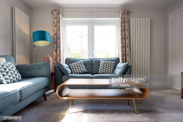 property interiors - living room stock pictures, royalty-free photos & images